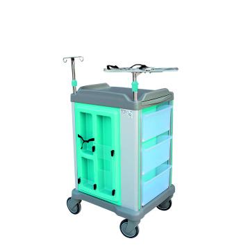Carrinho hospitalar ABS para uso cirúrgico ou de emergência