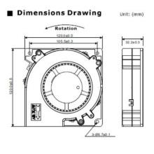 Ventilador de refrigeración DC para máquina de limpieza por ultrasonidos