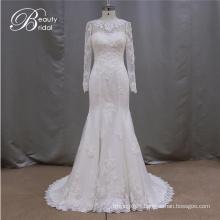 Long Sleeve Mermaid Real Sample Wedding Dress