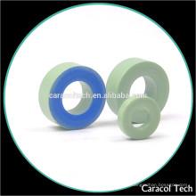 Small Core Loss CT130-52 Ferrite Magnet Toroidal Iron Cores com revestimento verde