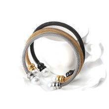 Haute qualité en acier inoxydable or maille Bracelet pour dames