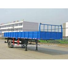 Factory supply cheap one axle cargo semi trailer in Peru