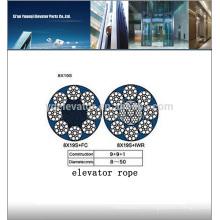 Câble d'ascenseur 8x19S-10.00mm, câble de câble d'ascenseur