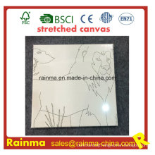 Stretched Canvas with Line Design