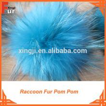 Wholesale Pompón de piel de mapache