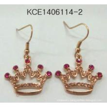 Princess Crown Earrings with Metal Beauty