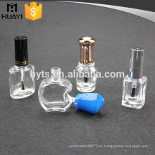 Forme la botella vacía del esmalte de uñas, botella para el esmalte de uñas