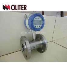 Medidor de turbina de gas del medidor de flujo de aire brida de pantalla digital inteligente