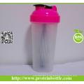 Bouteille de shaker de gymnastique de fourniture de 700 ml avec boule de fil