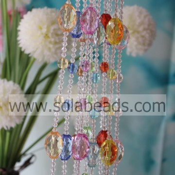 Easter 6MM&12MM&30MM Wire Acrylic Crystal Beaded Garland Trimming