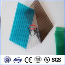 Panneaux creux en polycarbonate à faible paroi à 2 murs