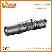 Heißer Verkauf EDC hohes helles 1AA oder 14500 Zelle angetriebenes 3w / 5w Cree Aluminium mini führte Taschen-Taschenlampen mit Klipp-Fackel