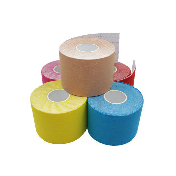 Custom Logo Printed Breathable Waterproof Cotton Elastic Athletic Kinesiology Sports Tape