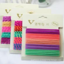 Девушки мода конфеты Цвет винт резиновые эластичные ленты для волос (JE1585)