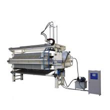 Vacuum belt filter for dehydration of slime
