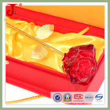 6*6*30cm Rose Open Crystal Glass Flower (JD-CF-102)