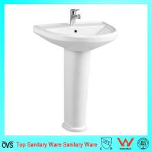 Nuevo lavabo de la mano del lavabo del pedestal del diseño
