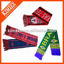 Fashion custom winter knitting football scarf