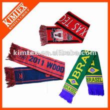Мода пользовательских зимой вязание футбольный шарф