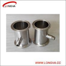 Raccords sanitaires en tuyaux en acier inoxydable Tri Clamp Spool avec fourrure filetée