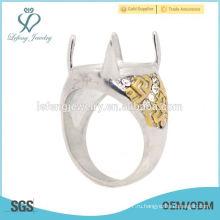 Необычная нержавеющая сталь Silver & Gold оформляет мужские индонезийские кольца, красивые кольца