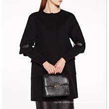 17PKCSC012 women double layer 100% cashmere wool coat