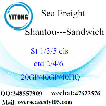 Shantou Port Sea Freight Shipping To Sandwich