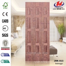 JHK-013 Project Puerta Desigual Puerta MDF CARB Bubinga Veneer Materail Hoja