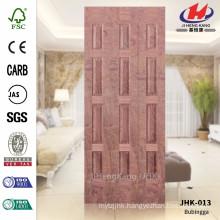 JHK-013 Project Unequal Leaf Door MDF CARB Bubinga Veneer Materail Sheet