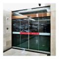Commercial interior door system automatic sliding glass door with dunker motor