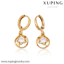 (90074) Pendiente plateado oro de alta calidad de Xuping Fashion 18K