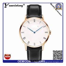 YXL-656 fou cuir montre unisexe marque vendue votre propre montres OEM votre propre Logo Brand′s Watch