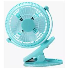 2 уровня скорости ветра вентилятор USB miniCharging с зажимом -синий