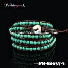 Естественный каменный шарик браслет FASHIONME