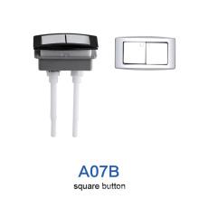 Хромированная квадратная кнопка для унитаза высокого стандарта