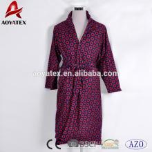 Double layer printed high quality super soft adults micromink bathrobe unisex bathrobe