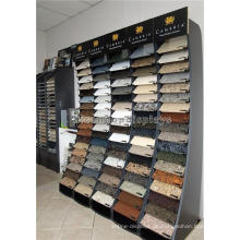 Durable Free Standing Showroom Fliesen-Rack, schwarz hölzerne 90 Stück Keramik Fliesen Display Stand