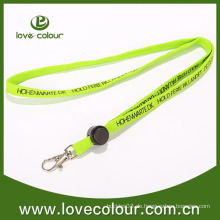 Mode FLUO Green Silk-Screen Tubular Lanyard