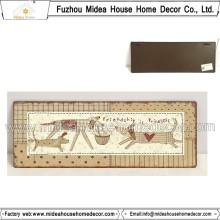 Dog Home Sinais de artesanato de metal decorativas