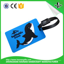 New Promotional Gifts Customized Logo Soft PVC Luggage Tag