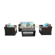 Mobília ao ar livre do sofá do rattan das maneiras do lazer