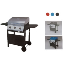 3 pits gas barbecue grill buiten BBQ