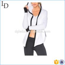 Diseño de la chaqueta polar de polar de la chaqueta de las mujeres del deporte de la yoga
