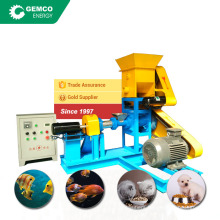dgp40 single phase floating feed extruders 100kg per hour fish feed making machine with crusher