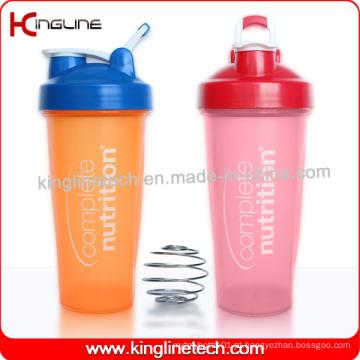 600ml Garrafa de Proteção de Proteína de Plástico com Misturadora de Liquidificador Ball and Handle (KL-7010D)