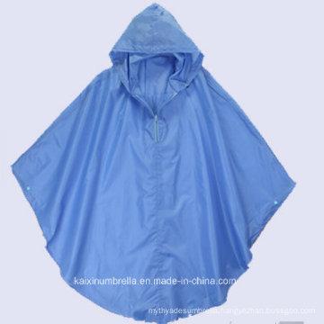 Goog Quality Blue PVC Rain Poncho (Zip Is Avaliable)