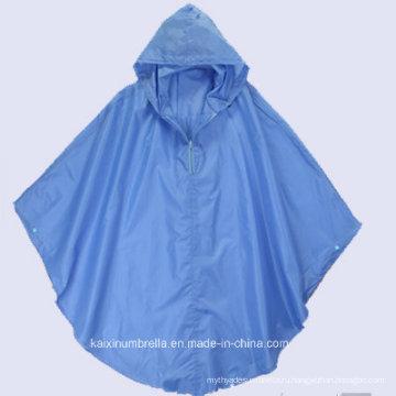 Голубое пончо из поливинилхлоридного каучука (возможен Zip)