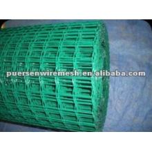 Malla de alambre soldada de PVC de hormigón verde
