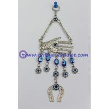 Horseshoe Hamsa Evil Eye pendant feng shui home decoration
