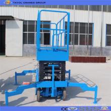 Plataforma de elevación de tijera hidráulica de uso de almacén remolcable popular